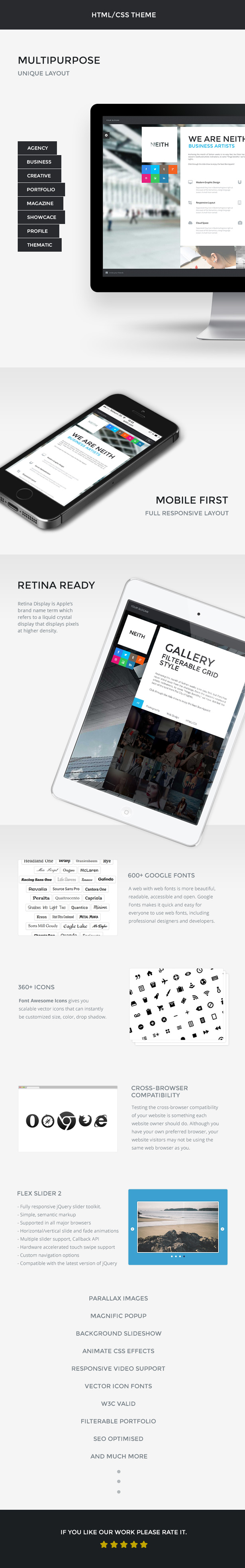 NEITH - Responsive One Page Template