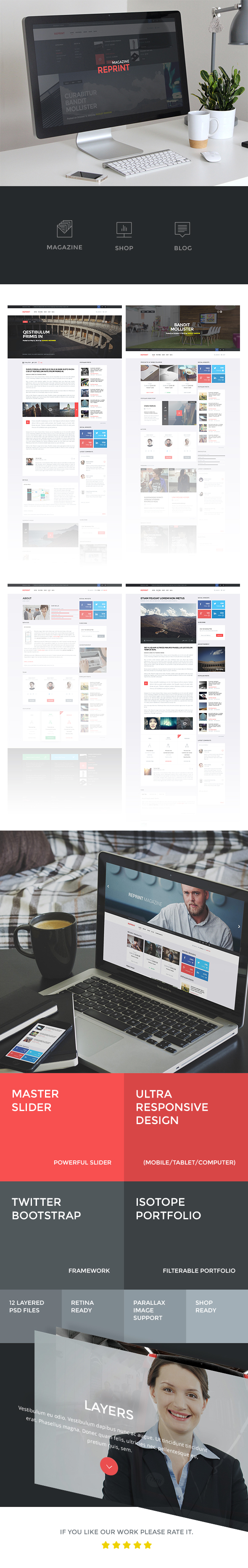 REPRINT | Magazine HTML Template